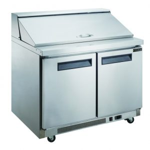 DSP48 11.4 Cu. Ft. 2 Door Commercial Food Prep Table Refrigerator In Stainless  Steel